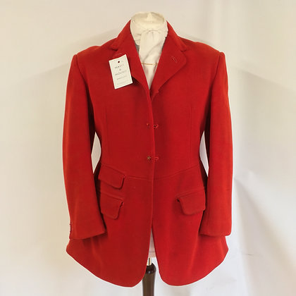 Vintage Moss Bros 3 button red coat 40""