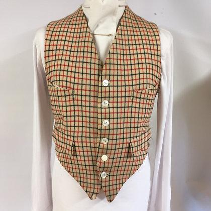 """Men's Tattersall waistcoat 38"""""""