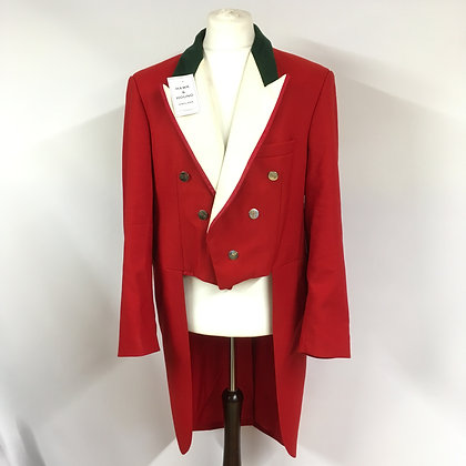 Gents Moss Bros Red Evening Tails 46""