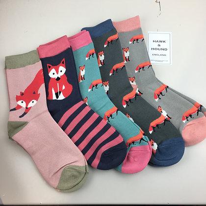 Ladies Bamboo Foxy Socks