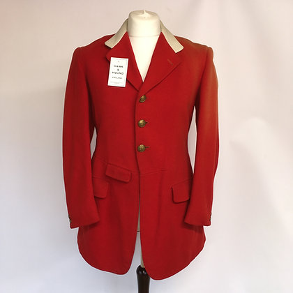 "Bespoke 3 button hunt coat 38"" with Pytchley collar"