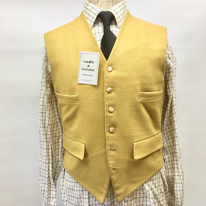 """Handmade bespoke mustard waistcoat 36"""""""