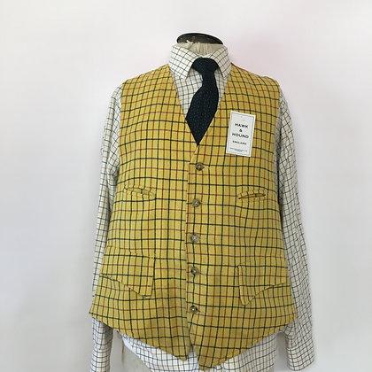"""46"""" Yellow Tattersall waistcoat"""