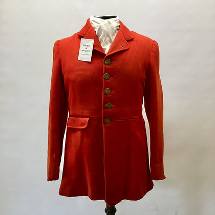 Vintage 5 button red coat by Heaphy's 38""