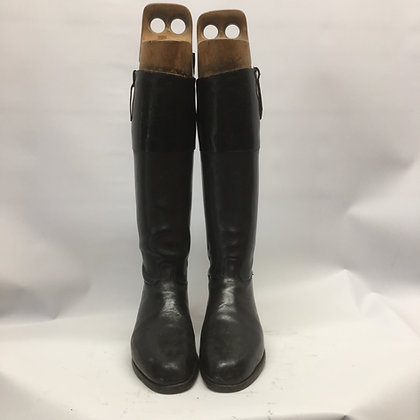 10 Peal & Co Black Patent Top Boots 10