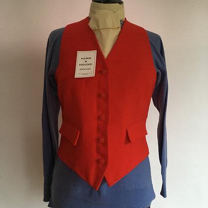 """Ladies Red Mears Wool Waistcoat 34"""""""