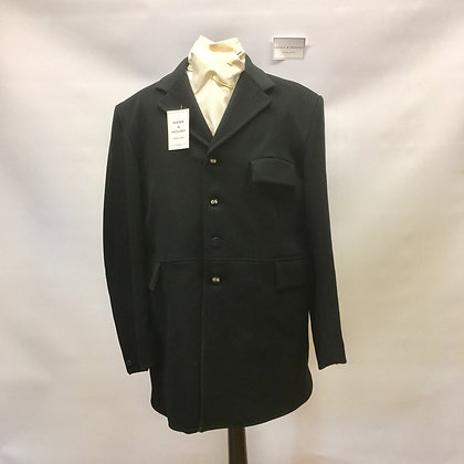 Mears 4 button black frock coat 44""