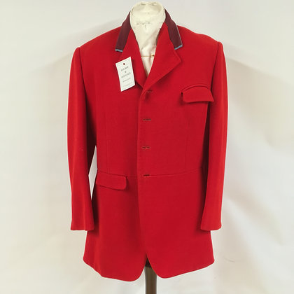 Millers of New York 4 button vintage 1969 red hunt coat 40-42""