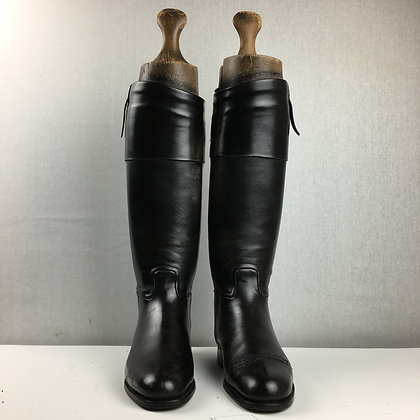 Size 8.5, Horace Batten Black Top Boots