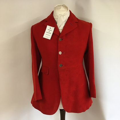 "Bernard Weatherill 3 button red hunt coat 38"""