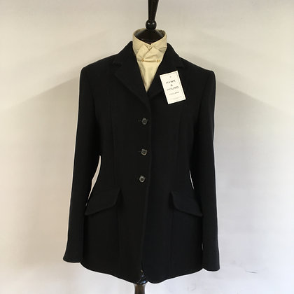Ladies black 3 button hunt coat 36-38""