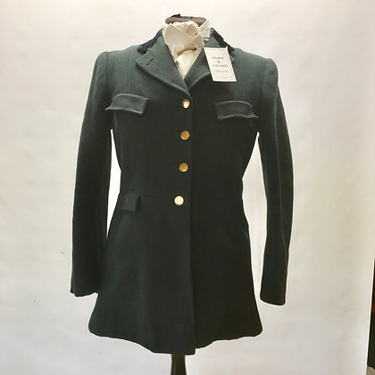 "Ladies 4 button green coat 32"""