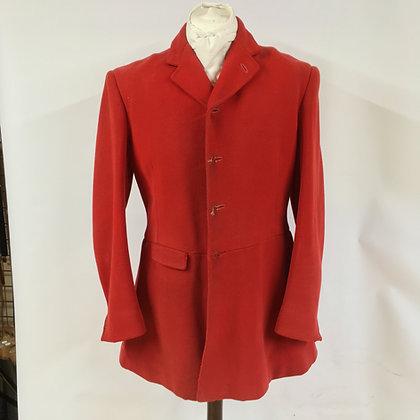 "Windsors of Exeter vintage 1971 4 button red hunt coat 40"""