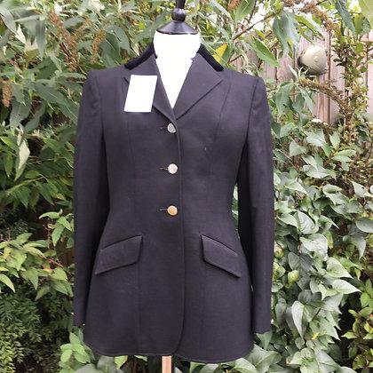 "Ladies Black Moss Bros Show Coat 34-36"""