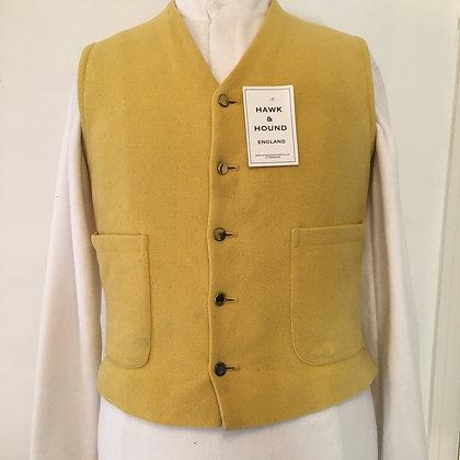 """38"""" mustard Doeskin Waistcoat"""