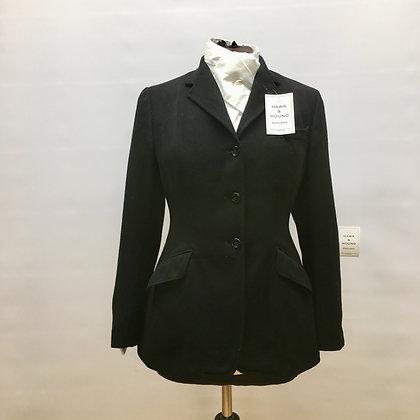 """34"""" Vintage Harry Hall m/w black coat"""
