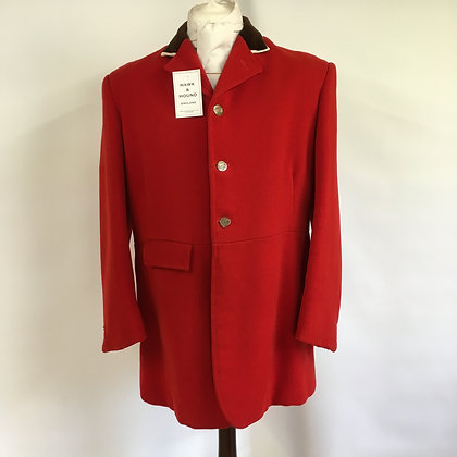 Millers NY red 3 button hunt coat 46/48""