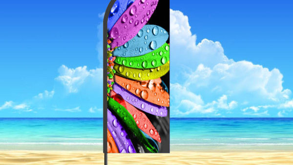 feather flag banner 200x75cm