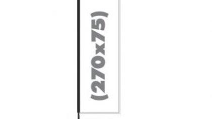 Beach Flag 3m feather