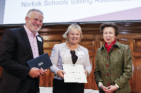 RYA Award and Royal Presentation for Norfolk Volunteers Ruth and Paul Bonham