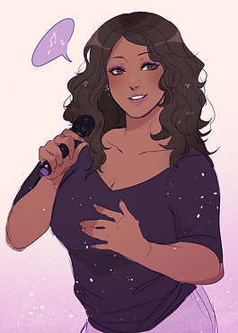 Me as singer (commission by Ayshiun).png