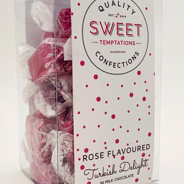 Turkish Delight in Milk chocolate wrapped
