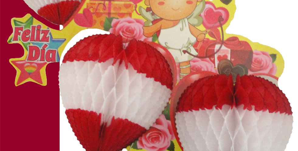Corazón impreso triple (33cm)