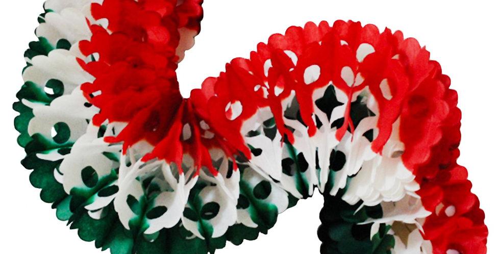 Gusano redondo tricolor papel china