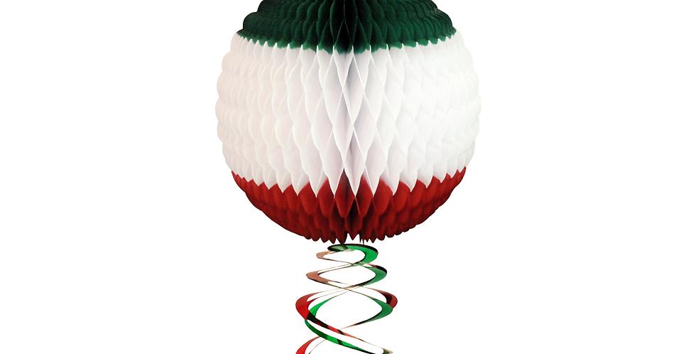 Esfera tricolor con escudo