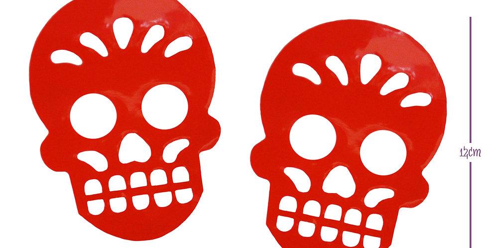 Sticker adhesivo cráneo mini