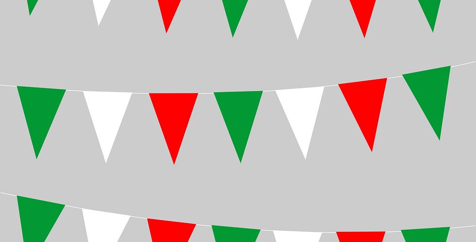 Banderín tricolor liso 8m