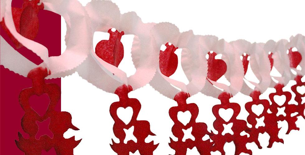 Festón corazón con cupidos