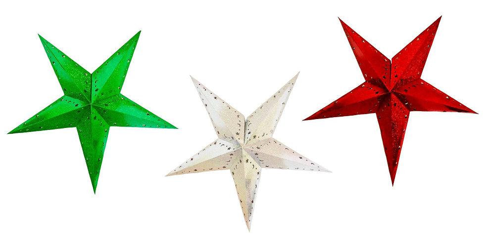 Estrellas plegables tricolor