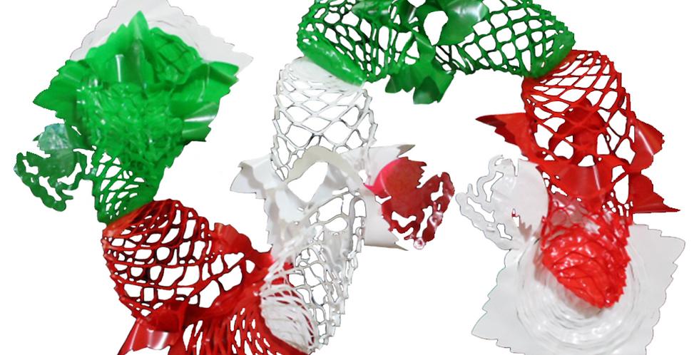 Guía panal tricolor de plástico