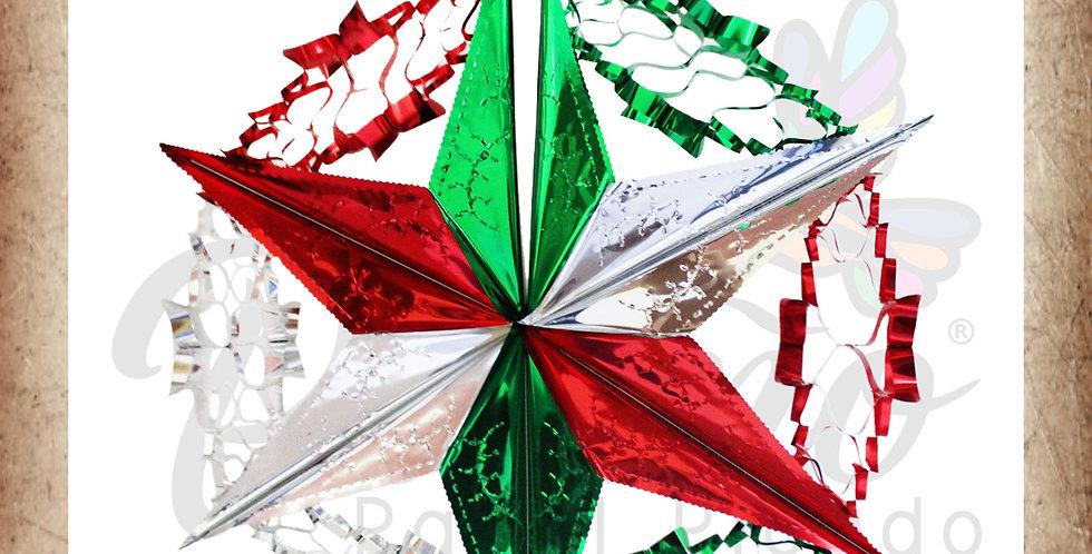 Estrella con cadena tricolor