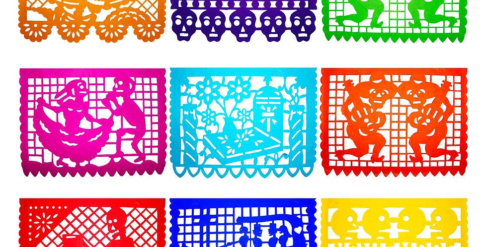 Millar papel picado tradicional 1/2 multicolor