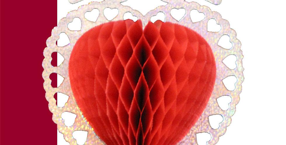 Corazón con palomas (36cm)