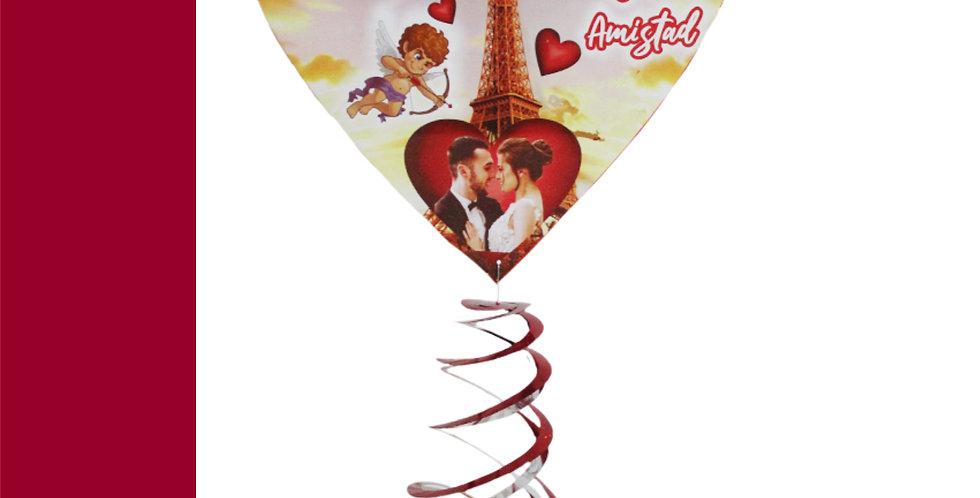 Corazón impreso con espiral
