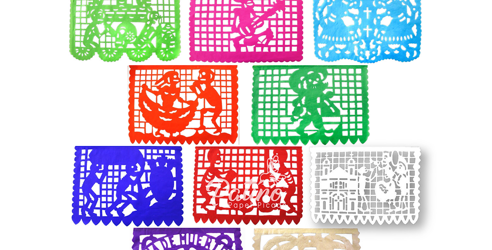 Enramada de colores 1/8 papel china