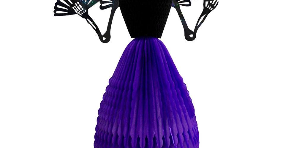 Maria Antonieta - Catrina 120cm de alto - Violeta