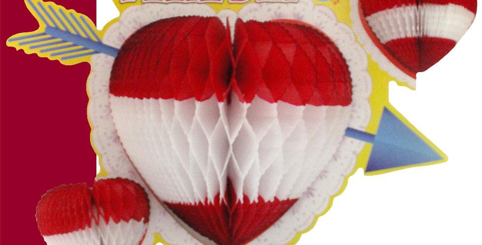 Corazón impreso feliz día