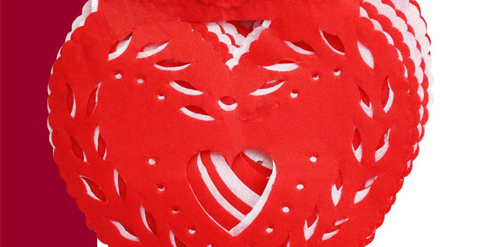 Enramada corazones 1(8 papel china