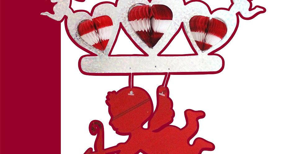 Corazón triple c/cupido