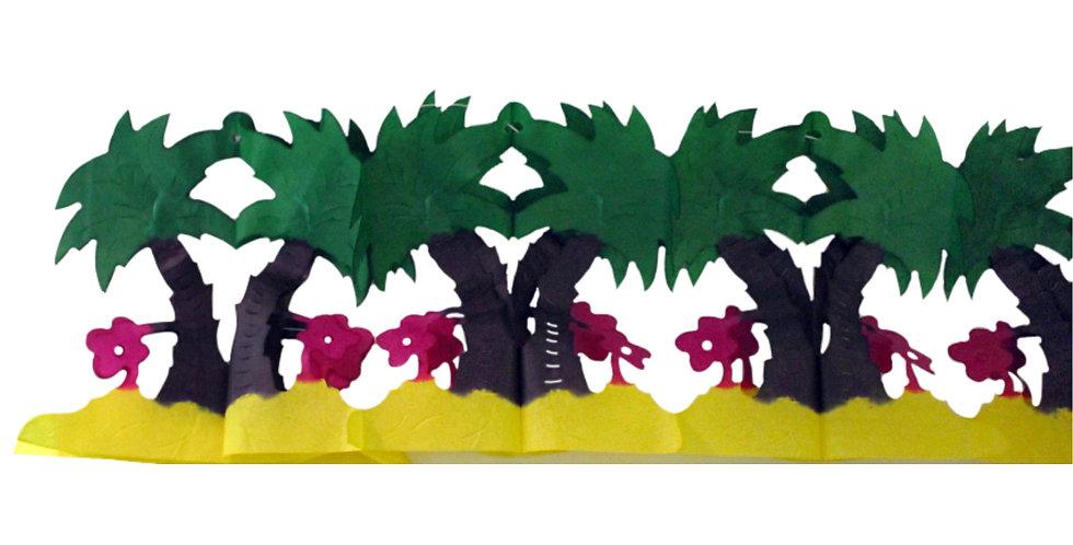 Festón de palmeras
