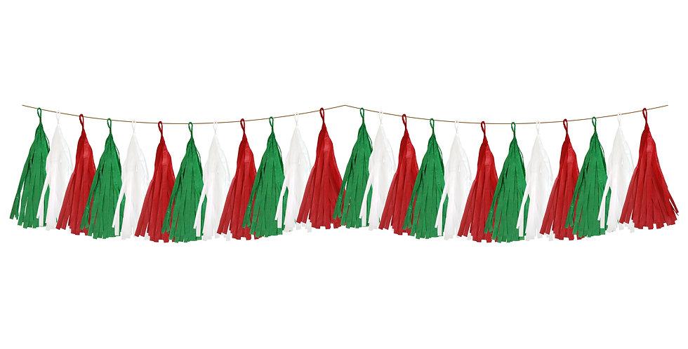 Guirnalda con flecos tricolor