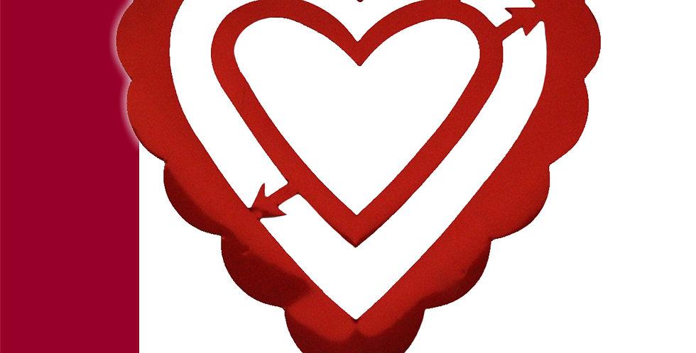 Guía metálica corazón doble