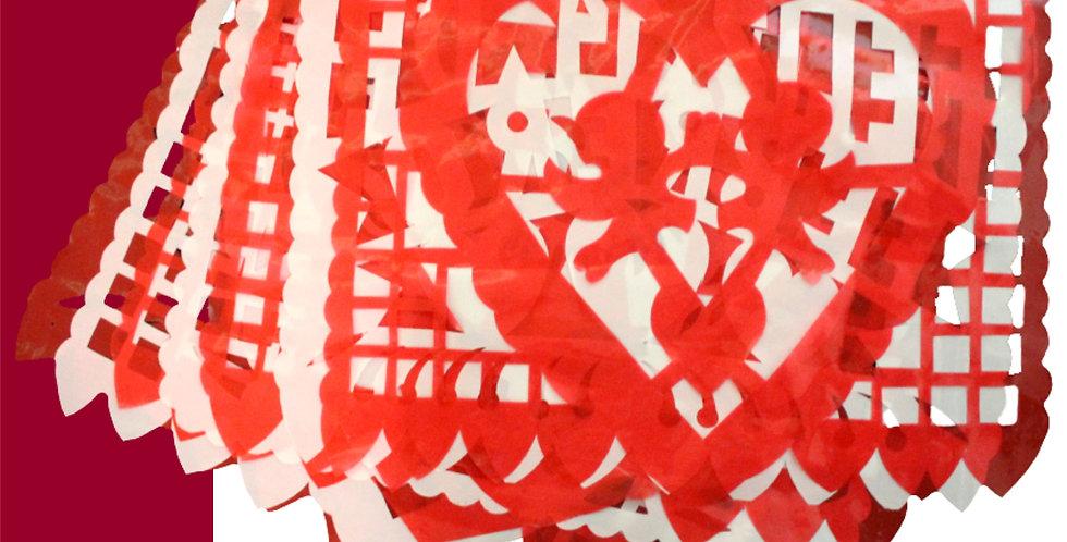 Enramada San Valentín 1/2 plástico