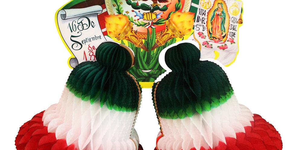 Campana doble tricolor