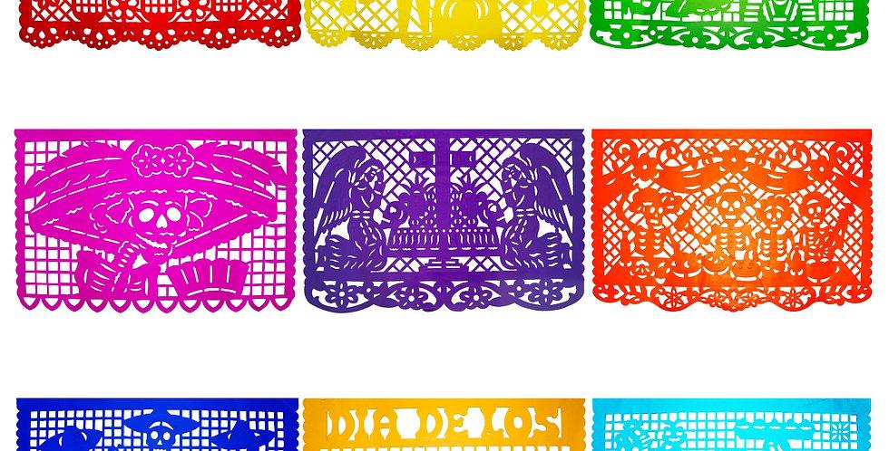 Millar papel picado tradicional 1 multicolor