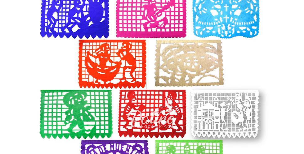 Enramada día de muertos 1/2 papel china